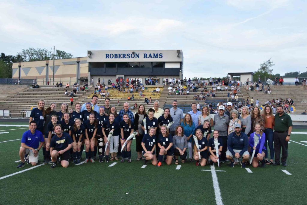 The 2019 Lady Rams Soccer team and families